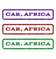 car africa watermark stamp vector image