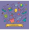 Celebration festival holiday party equipment thin vector image vector image
