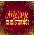 Christmas card Gold sparkles on Red background vector image vector image