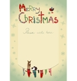 Christmas greeting card with socks for gifts vector image vector image