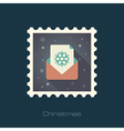 Christmas letter flat stamp vector image vector image