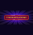 Congratulations banner with glitter decoration