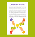 crowdfunding strategy text vector image vector image