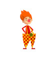 cute funny clown cartoon character vector image vector image