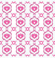 decoration pattern with hearts vector image