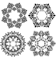 design element black and white version vector image vector image