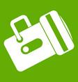 flashlight icon green vector image vector image
