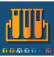 Flat design tube vector image vector image