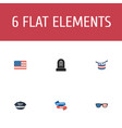 flat icons hat tomb ribbon and other vector image