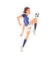 girl soccer player character young woman in vector image vector image