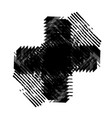 grunge isolated cross vector image vector image