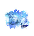 hand drawn sketch lamb natural lamb meat vector image vector image