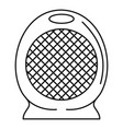 home air heater fan icon outline style vector image vector image