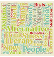 How Alternative Medicine Fits into Today s Society vector image vector image