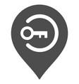 key login marker flat icon vector image