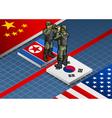Korean crisis vector image vector image