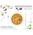 laotian cuisine asian national dish collection vector image
