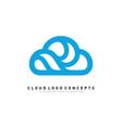 luxury cloud logo design concept cloud logo vector image