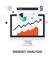 market analysis concept vector image vector image