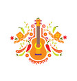 mexican pattern traditional symbols of mexico vector image vector image