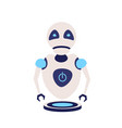 modern cute robot artificial intelligence future vector image