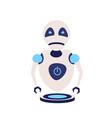 modern cute robot artificial intelligence future vector image vector image