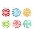 modern round korean pattern window frame vector image vector image