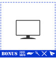 monitor icon flat vector image vector image