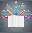 open book - business infographic vector image
