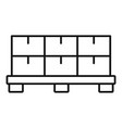 pallet milk box icon outline style vector image vector image