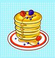 pancakes pop art vector image vector image