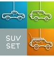 Paper car set vector image vector image