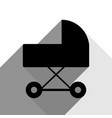 pram sign black icon with vector image vector image