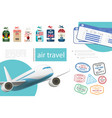 realistic air travel concept vector image vector image