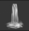 realistic stream waterfall with clear water vector image vector image