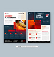 red flyer template layout design corporate vector image vector image