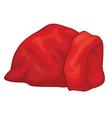 santa red bag vector image vector image