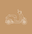 scooter with sketch style retro vintage vector image vector image