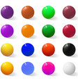 set colorful realistic spheres vector image vector image