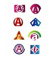 Set of letter A logo Branding Identity Corporate v vector image vector image