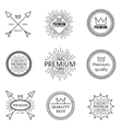 Set of outline emblems vector image vector image