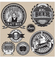set retro icons to topic beer vector image vector image