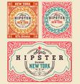 set vintage cards vector image vector image