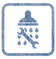shower plumbing fabric textured icon vector image vector image