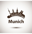 silhouette of Munich City skyline vector image vector image