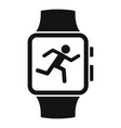 smartwatch running mode icon simple style vector image vector image