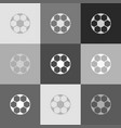 soccer ball sign grayscale version of vector image vector image