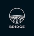 stone bridge logo vector image vector image