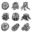 stumps icon set simple style vector image