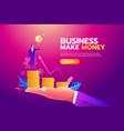 success concept businessman holding goal target vector image